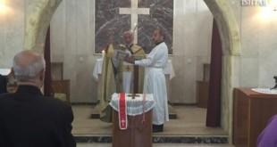 قداسة البطريرك مار كيوركيس الثالث صليوا يقيم قداسا بمناسبة تذكار مار بنيامين شمعون الشهيد