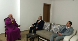 السكرتير العام لحزب بيت نهرين الديمقراطي يلتقي قداسة البطريرك مار كيوركيس الثالث صليوا