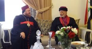 قداسة البطريرك مار كيوركيس الثالث صليوا، يزور مطرانية السريان الارثذوكس في عينكاوة