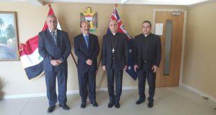 زيارة غبطة المطران مار ميلس زيا الى سفارة جمهورية العراق في كانبيرا