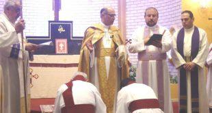 بوضع اليمين المباركة لغبطة المطران مار ميلس زيا، رسامة شماسين في سيدني