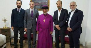 قداسة البطريرك مار كيوركيس الثالث صليوا يستقبل مسؤول العلاقات الخارجيّة مع المستشار الاقدم لمجلس الكنائس العالمي