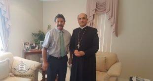 غبطة المطران مار ميلس زيا، يستقبل الدكتور وليم اشعيا، الوزير المفوض في وزارة الخارجية العراقية