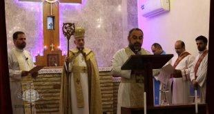 بوضع اليمين المباركة لقداسة البطريرك، تنصيب القس أوكين هرمز داود خورأسقفاً على مدينتي بغداد وكركوك