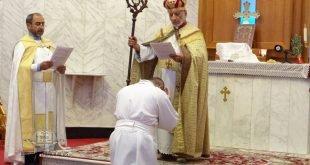 قداسة البطريرك مار كيوركيس الثالث صليوا، يرقي الأب الدكتور تياري جونسن إلى رتبة الأركذياقون