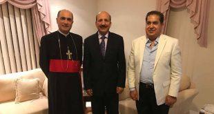 سفير جمهورية العراق في استراليا، يزور مطرانية كنيسة المشرق الاشورية في سيدني، لتقديم تهاني عيد القيامة المجيدة