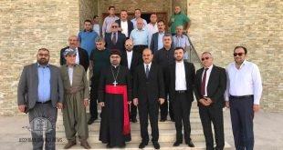 نيافة الاسقف مار ابرس يوخنّا يزور ناحية حرير ويلتقي بالسيّد على حسين وعدداً من وجهاء المنطقة