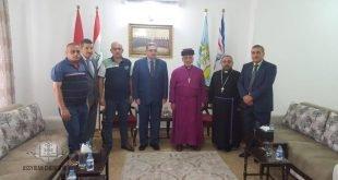 قداسة البطريرك مار كيوركيس الثالث صليوا يستقبل رئيس ديوان أوقاف الديانات المسيحية والآيزيدية والصابئة المندائيين