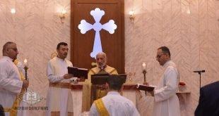 قداسة البطريرك مار كيوركيس الثالث صليوا، يترأس قداس عيد الميلاد المجيد في كنيسة مار يوخنا المعمدان في أربيل