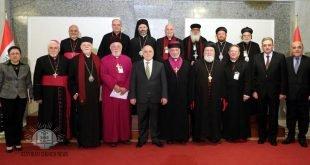 رئيس مجلس الوزراء الدكتور حيدر العبادي يستقبل رؤساء الطوائف المسيحية