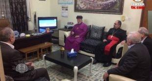 قداسة البطريرك مار كيوركيس الثالث صليوا يزور مقر لجنة سهل نينوى للارمن الارثوذكس في عنكاوا
