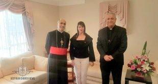 غبطة المطران مار ميلس زيا يستقبل، السيدة انوار العيسى، القائم بأعمال القنصل العام المؤقت لجمهورية العراق في سيدني