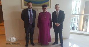 قداسة البطريرك مار كيوركيس الثالث صليوا، يلتقي الوزير الاسترالي كريس باوين