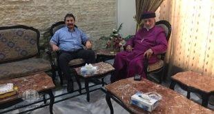 قداسة البطريرك مار كيوركيس الثالث صليوا، يستقبل الدكتور وليم اشعيا، الوزير المفوض في وزارة الخارجية العراقية