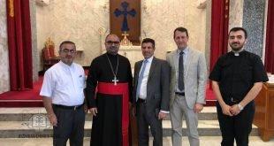 نيافة الاسقف مار أبرس يوخنا، يستقبل القنصل الاميركي الجديد في أربيل
