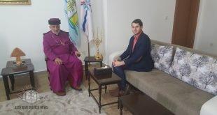 قداسة البطريرك مار كيوركيس الثالث صليوا يستقبل باحث من مركز الدراسة النمساوية