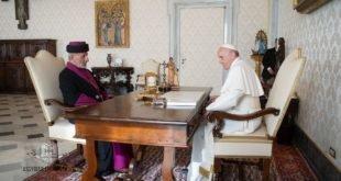 كلمة قداسة البطريرك مار كيوركيس الثالث بطريرك كنيسة المشرق الآشورية إلى قداسة البابا فرنسيس الذي استقبله صباح اليوم
