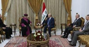 سيادة رئيس جمهورية العراق، الدكتور برهم صالح، يستقبل قداسة البطريرك مار كيوركيس الثالث صليوا