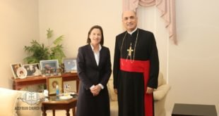غبطة المطران مار ميلس زيا، يستقبل سفيرة استراليا في العراق