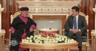 اعضاء المجمع المقدس لكنيسة المشرق الآشورية، يزورون رئيس حكومة اقليم كوردستان، السيد نيجيرفان بارزاني