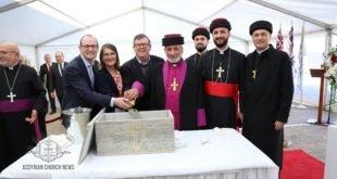 قداسة البطريرك مار كيوركيس الثالث صليوا، يضع الحجر الاساس لبناية متعددة الاغراض في مدينة ملبورن