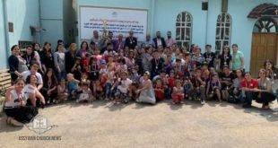 مهرجان الدورة الصيفية للتعليم المسيحي وتعليم اللغة الآشورية في كنيسة مار عوديشو في بغداد