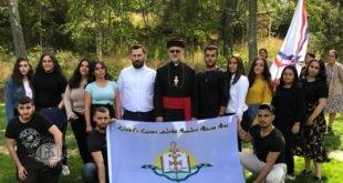نيافة الأسقف مار عبديشوع أوراهام يزور المخيم الشبابي لشبيبة أبرشية الدول الاسكندنافية والمانيا