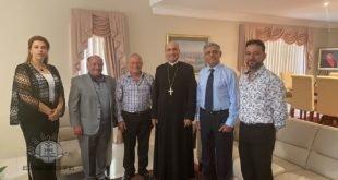 وفد المنتدى الجامعيين العراقيين الأسترالي، يلتقي غبطة المطران مار ميلس زيا